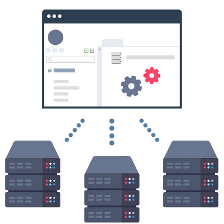 software solution: Illustration of a Software Solution which Allows Users to Control Their Server Equipment in Data Centers