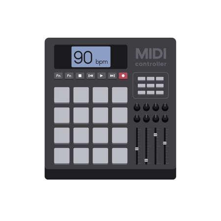 sampler: Illustration of a Modern MIDI Controller Illustration