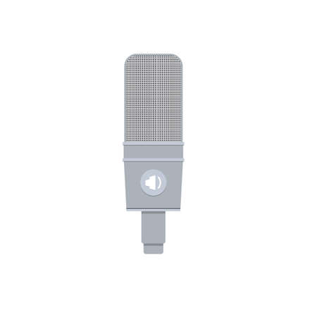 Illustration in Flat Style of a Studio Condenser Microphone