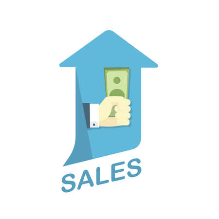 Conceptual Flat Illustration Depicting Increase of Sales Level