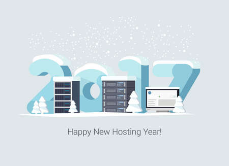 Gift Card for Hosting Companies in Flat Vector Style