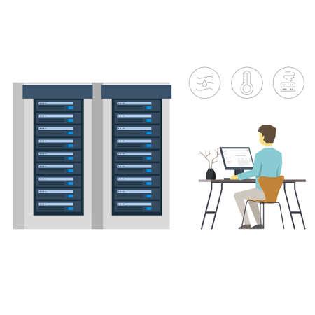Data Center Management Illustration