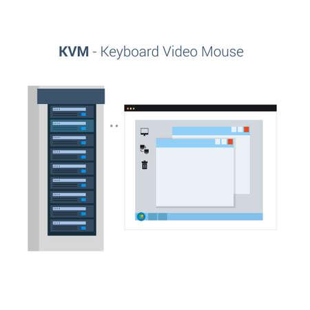 Clavier Souris Vidéo ou KVM Banque d'images - 82600502