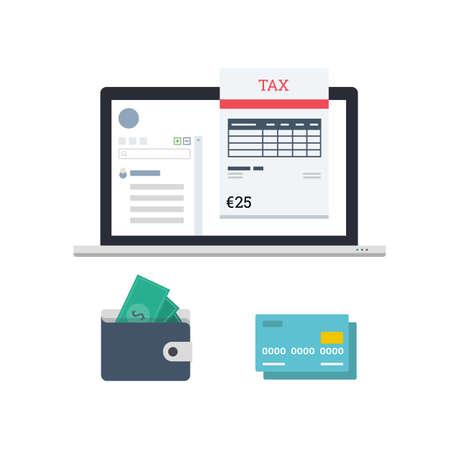 Calcul de l'impôt en ligne Banque d'images - 82600508