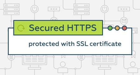 Connexion HTTPS sécurisée Banque d'images - 82600477