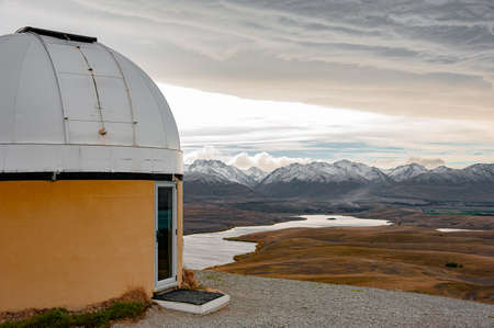 Mount John Observatory. Skyline view of Mount John University Observatory The New Zealand's premier astronomical research observatory situated at 1,029 meters atop Mount John at the northern end of the Mackenzie Basin.
