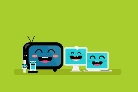 cute: cute devices Illustration