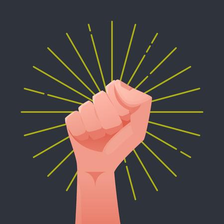 revolt: Fist illustration