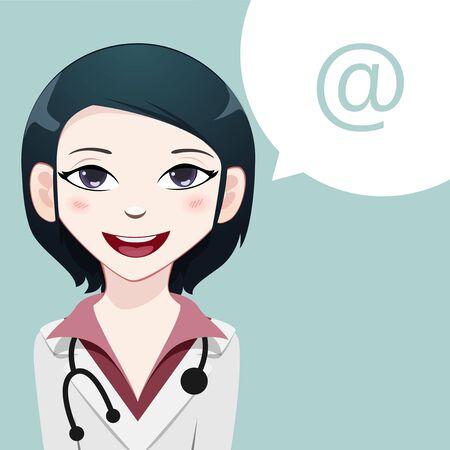 chat icon: Medical avatar Illustration