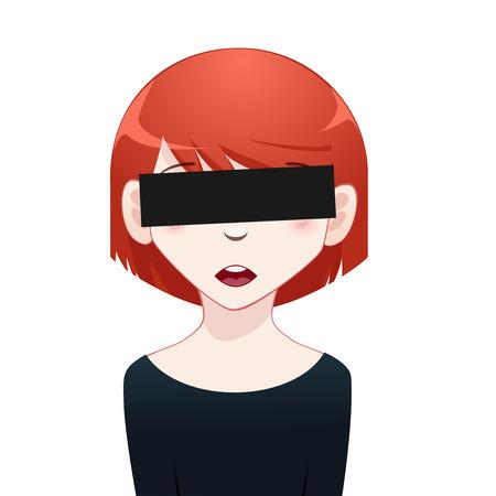 censored: Censored Girl concept Illustration