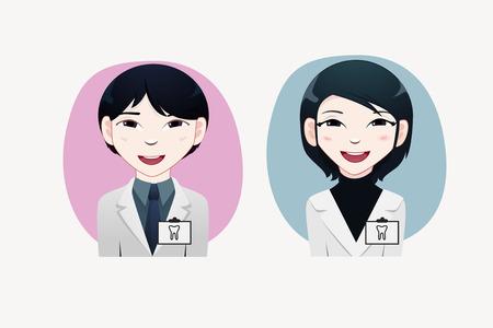 japanesse: Dentist vector illustration Illustration