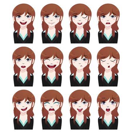 business woman: business woman avatar set