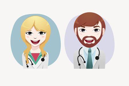 medical illustration: Medical people vector illustration