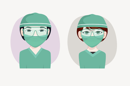 japanesse: Surgeon vector illustration