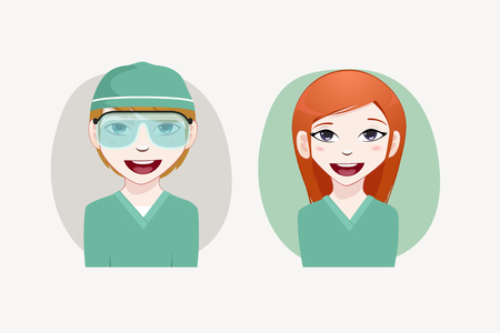 surgeon mask: Surgeon vector illustration