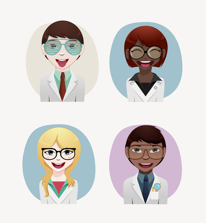optician: Optician vector illustration