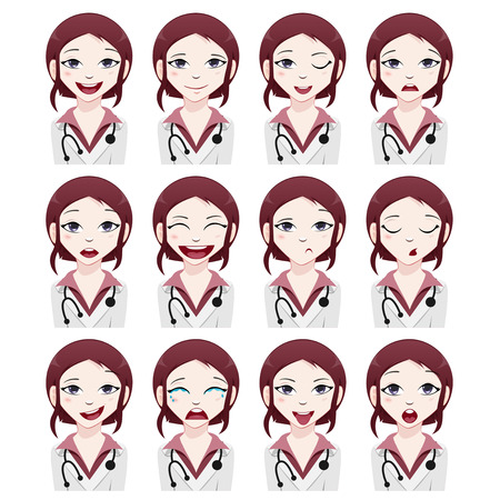 eye icon: Medical avatarset Illustration