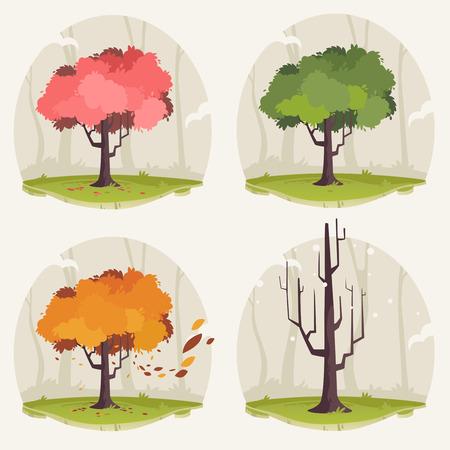season: Tree Illustration: Season change