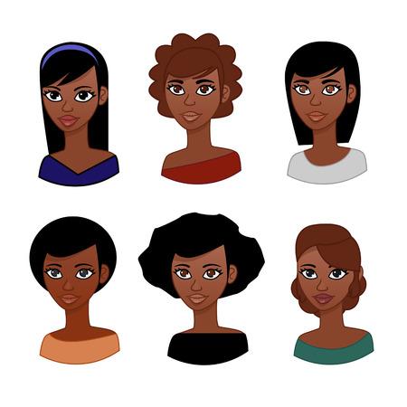 mujeres morenas: avatar mujer Vectores
