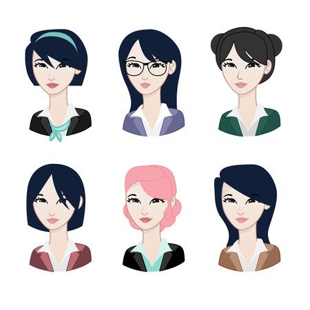Asian Woman avatar Vektorové ilustrace