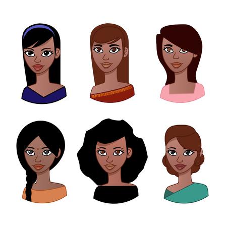 saree: Indian Woman avatar Illustration