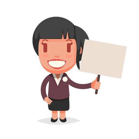 business woman: Business cute vector woman