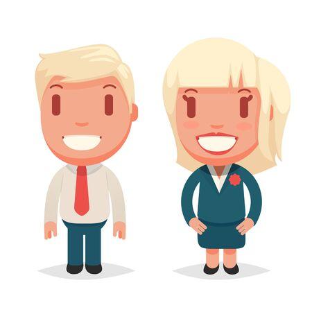 woman business suit: Cute vector people Illustration