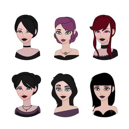 goth girl: Gothic avatar set