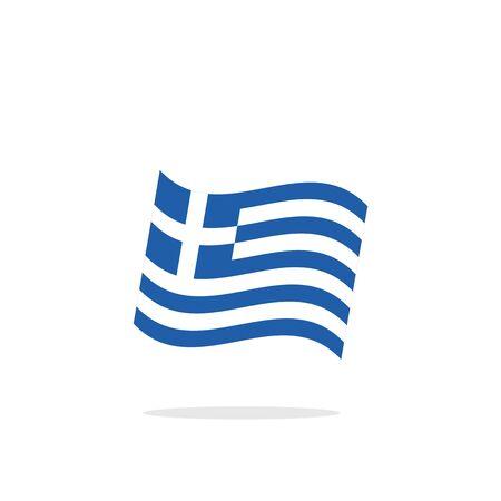 greek flag: Greek flag Illustration