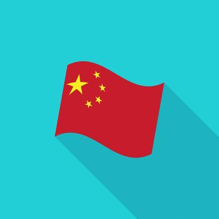prc: China Flag Illustration