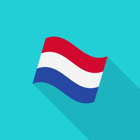 netherlands flag: Netherlands flag illustration Illustration