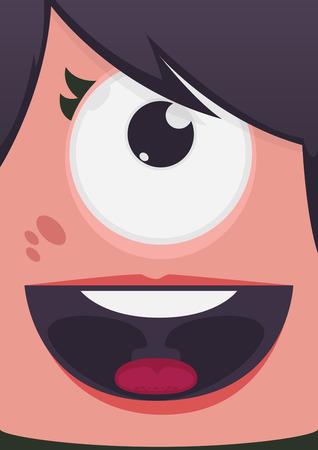 alien women: Monster face vector illustration Illustration