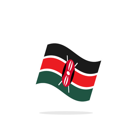 kenya: Kenya Flag Illustration