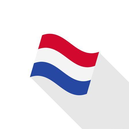 netherlands flag: Netherlands flag illustration Illustration