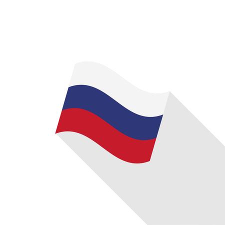 bandera rusia: la ilustraci�n de la bandera de Rusia Vectores
