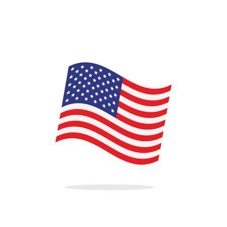 history month: USA Flag illustration