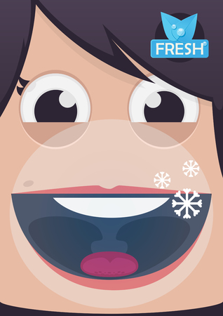 breath: Fresh breath vector illustration Illustration
