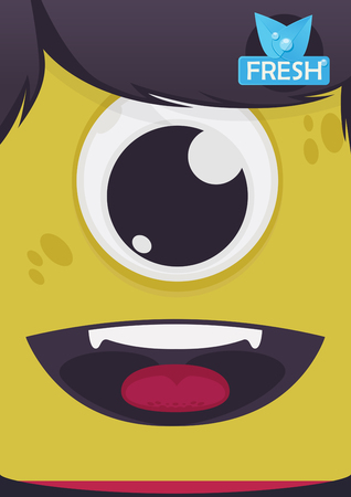 breath: Fresh breath vector illustration for kids
