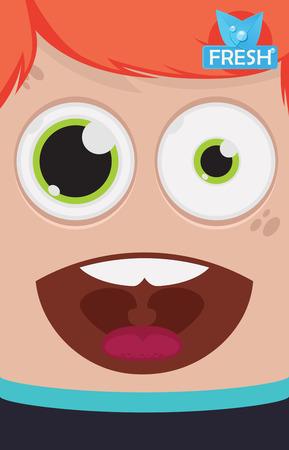 dientes sanos: ilustración vectorial aliento fresco