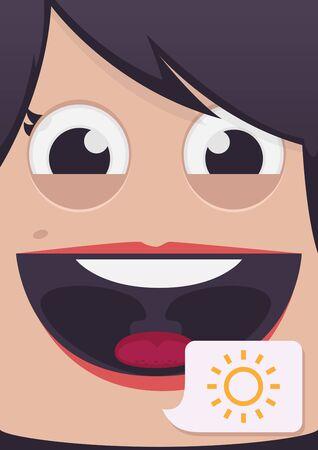 woman face close up: Woman face vector illustration