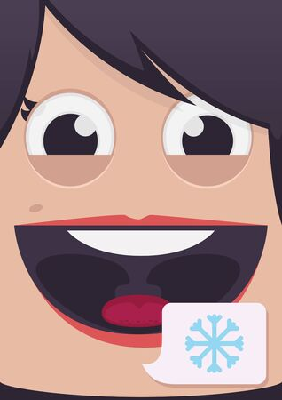 close up woman: Woman face vector illustration