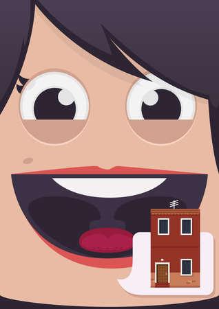 woman close up: Woman face vector illustration