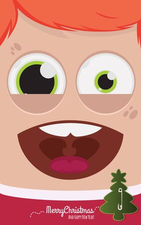 bobby: Christmas people vector illustration