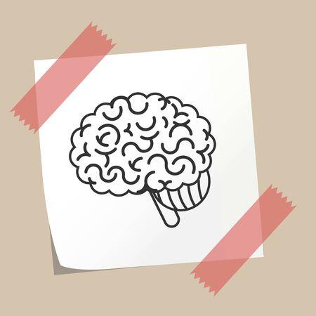 brain illustration: Brain concept illustration Illustration