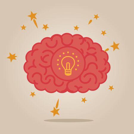 brain illustration: Brain concept illustration: creativity