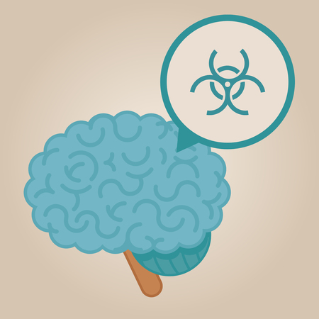 contamination: Brain concept illustration: biological contamination
