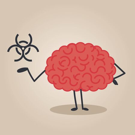 contamination: Brain characte: biological contamination Illustration