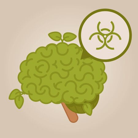 contamination: eco friendly brain: biological contamination Illustration