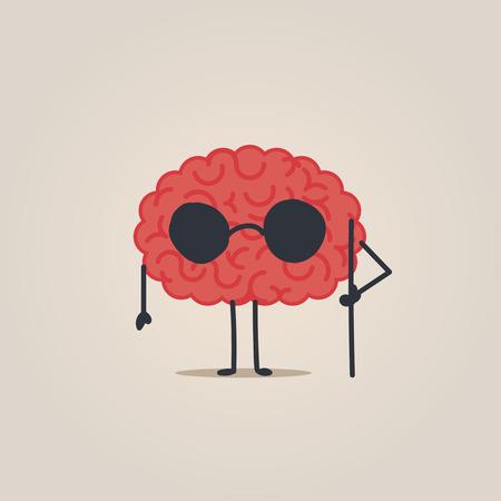 Blind brain concept Illustration