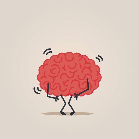 metaphors: Brain character Illustration